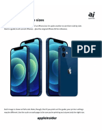 2020 iPhone 12, iPhone 12 Pro, iPhone SE Size Guide