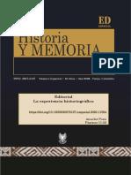 La experiencia historiográfica