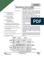 CS42448 audio DAC ADC