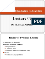 Lecture 09 Measures of Central Tendency (Mode & GM) to be delivered 1.pptx