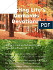 Meeting Life's Demands (Devotional)