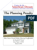The Planning Penalty