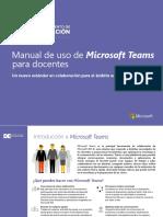 Manual Teams Docente