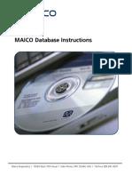 Maico Database Manual