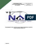 PRD-HSEQ-11 PROCEDIMIENTO CONSTRUCCION OBRAS MENORES CONCRETO