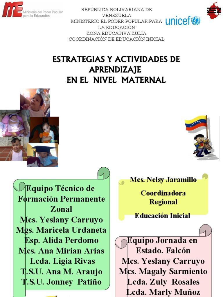Estrategias y actividades de maternal for Actividades para jardin maternal sala de 2