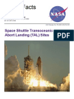 NASA Facts Space Shuttle Transoceanic Abort Landing (TAL) Sites 2001