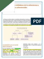 Medicamentos inhibidores de la colinesterasa y activadores de los colinesteroides