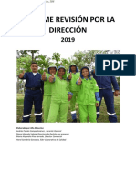Informe Revisión Dirección BIO 2019