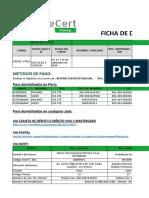 BeCert FICHA DE DATOS ISO 17025