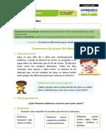 FICHA 2  SESIÓN 2 EXP 1 CIENCIA Y TECNOLOGÍA PRIMER GRADO - OCTUBRE 2020
