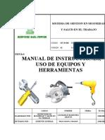 Sst-m-002 Manual de Instrucciones, Uso de Equipos y Herramientas.