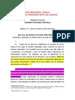 DIFERENCIA ENTRE PRINCIPIOS Y REGLA