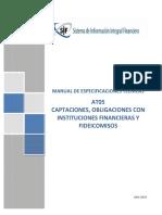 SB-MET-AT05 Captaciones, Obligaciones Con Instituciones Financieras y Fideicomisos