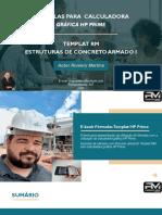 E-book Fórmulas HP Prime Concreto I R0