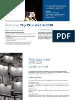 Escuela Reina Sofía. Audiciones 20-21. Violonchelo (Ivan Monighetti)