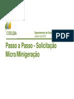 Passo a passo - Micro-Minigeração