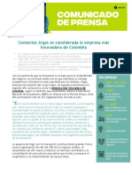 Cementos Argos es considera la empresa más innovadora de Colombia.pdf
