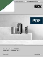 Correção. Interface fieldbus DFE33B EtherNet_IP e Modbus TCP 0718