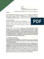 Demanda de Nulidad de Acto Jurídico Medianero.