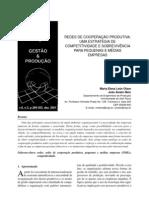 Redes de cooperação produtiva - Olave e Amato