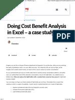 Chandoo Cost Benefit