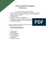 Datos para práctica 1 diseño de pavimentos