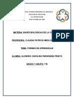 FORMAS DE APRENDIZAJE (ACFP) 09-10-2020