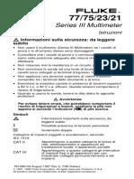 Istruzioni Multimetro