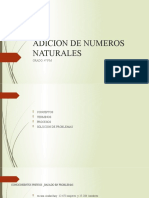 ADICION DE NUMEROS NATURALES