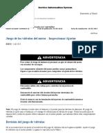 CAT 140K Juego de las válvulas del motor - Inspeccionar-Ajustar.pdf