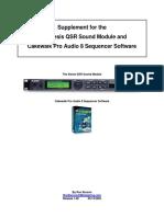 Alesis QSR Supplemental for Cakewalk Pro Audio 8