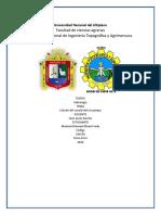 Informe Del Calculo Del Caudal Del Rio Pampa