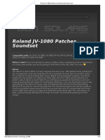 Roland JV-1080 Patches Soundset (Don Solaris)