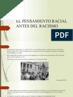 Tema 3 - Pensamiento racial antes del racismo