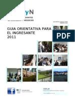 Guía Orientativa para el Estudiante 2011