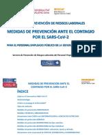 Medidas de prevención ante el contagio por el SARS-CoV-2