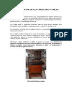 CONMUTACION DE CENTRALES TELEFONICAS