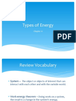 Types of Energy Notes PPT