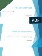 DISEÑOS PRE- EXPERIMENTALES