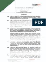 Resolución Administrativa 0100-IKIAM-PR-2020-R Procedimiento de realización de exámenes médicos ocupacionales