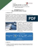 Guía Virtual  3 - Dilatación Lineal - Física Calor Ondas