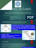 Teoría 5 - Propiedades físicas del suelo