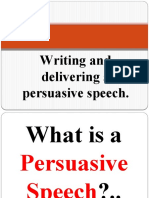 Writing and Delivering a Persuasive Speech