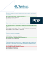 Cuestionario recolección de la información