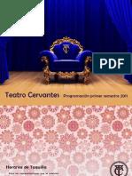 Programacion Teatro Cervantes primer semestre  2011