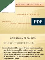 GENERACION DE SOLIDOS