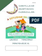 CARTILLA DE  ADAPTACION CURRICULA TERCERO