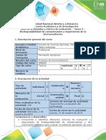Guía de actividades  - Tarea de contaminantes y seguimiento de la biorremediación