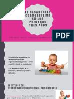 Desarrollo Cognoscitivo durante los primeros 3 años de vida